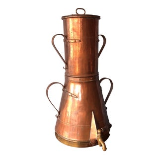 19th Century Copper Samovar For Sale