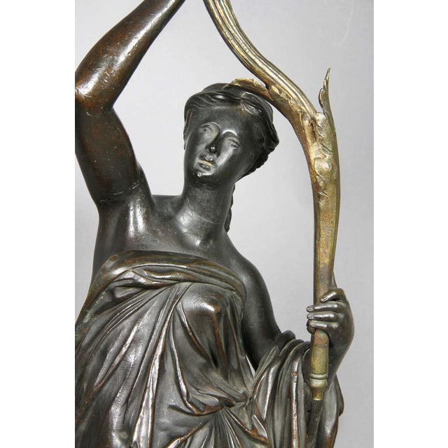 Louis XVI Pair of Louis XVI Bronze and Ormolu Candelabra For Sale - Image 3 of 10