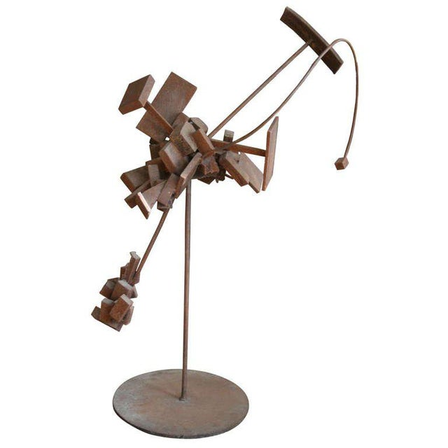 Metal Bertoia Style Sculpture For Sale - Image 7 of 8