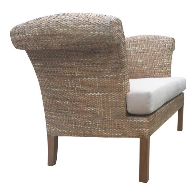 Natural Woven Rattan Settee For Sale - Image 4 of 9