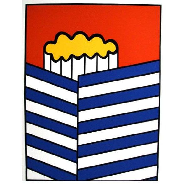 Artist: Nicholas Krushenick Title: Iron Street Year: circa 1979 Medium: Silkscreen, signed and numbered in pencil Edition:...