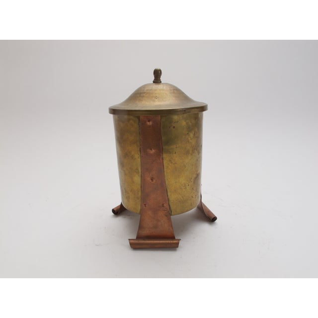 Antique Brass / Copper Canister with Lid - Image 3 of 4