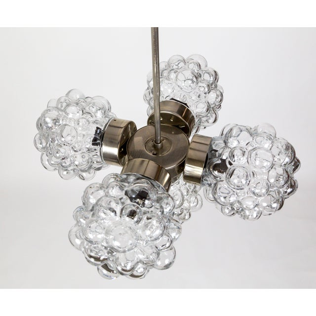 1970s Bubble Glass Cluster Chandelier by Helena Tynell For Sale - Image 5 of 9