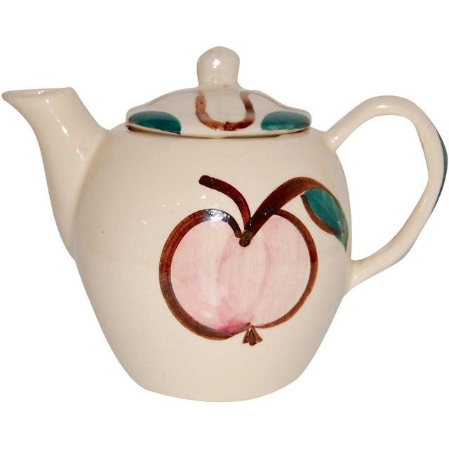 Vintage Pear & Apple Teapot For Sale