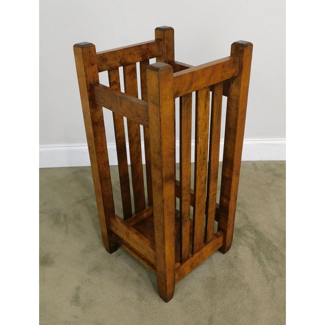 High Quality Antique Solid Wood Slatted Umbrella Stand