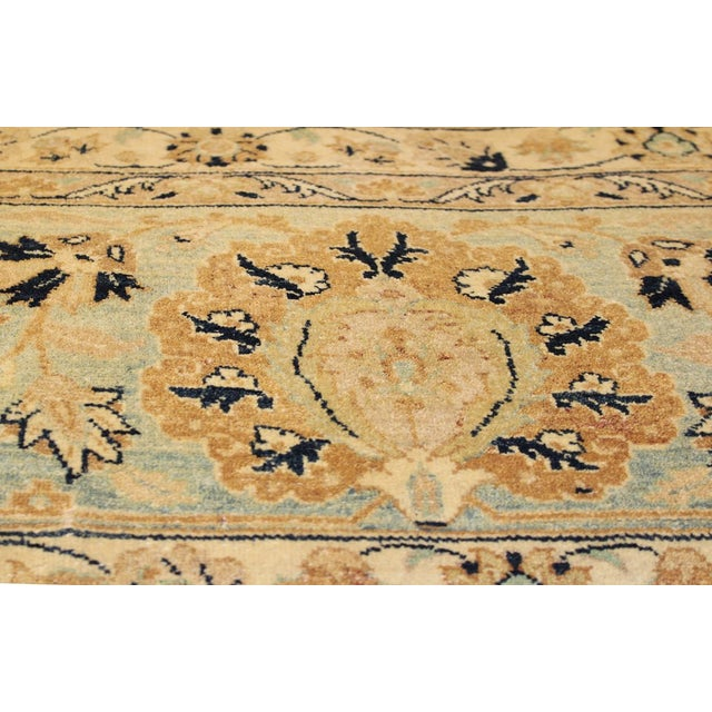 Textile Pak Persian Ping Lt. Brown/Lt. Blue Hand-Knotted Rug -8'10 X 12'2 For Sale - Image 7 of 8