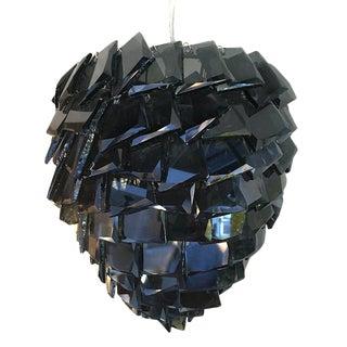 Rabane Black Glass Pendant Light