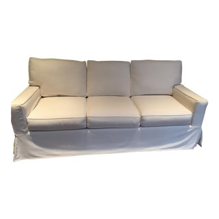 Pottery Barn White Sofa For Sale