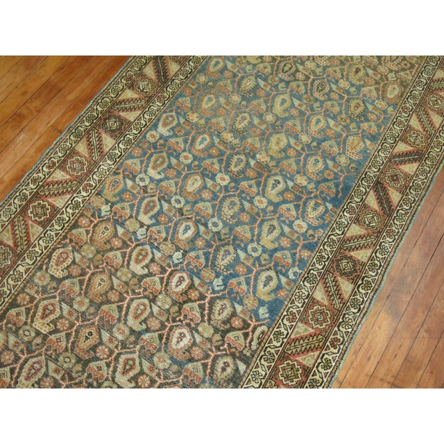 Antique Persian Malayer Runner, 3'4'' X 20'2'' For Sale - Image 10 of 11