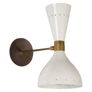 Double-Cone Italian Sconce in the Style of Stilnovo For Sale