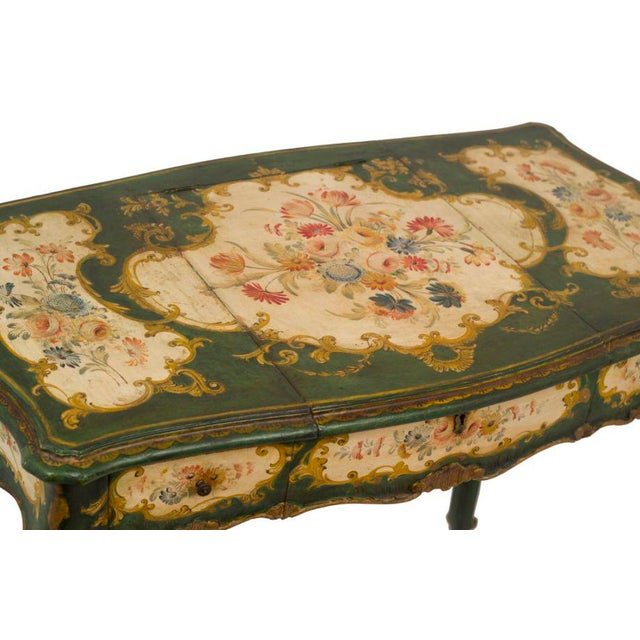 Venetian Painted Desk or Dressing Table - Image 4 of 4