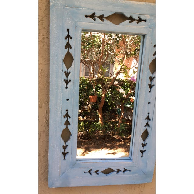Vintage Hand Carved Wood Mirror For Sale - Image 10 of 11
