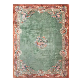"""Antique Chinese - Art Deco Rug 8'10"""" X11'8"""" For Sale"""
