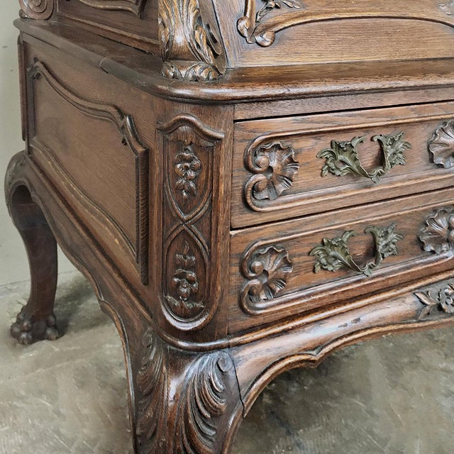 Gold 19th Century French Louis XIV Secretary For Sale - Image 8 of 13