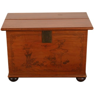 Late 19th Century Painted Chinese Trunk For Sale