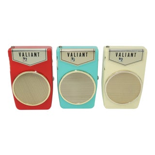 Retro Valiant 'Boy's Radio' Transistor Radio Collection, C.1960 For Sale