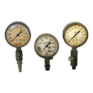 Vintage Industrial Gauges - Set of 3