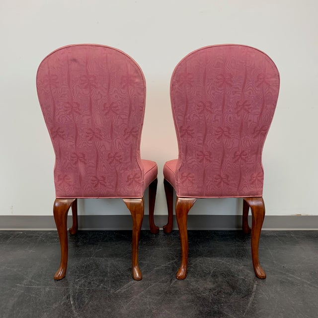 Wood John Widdicomb Queen Anne Style Dining Parsons Side Chairs - Set of 4 For Sale - Image 7 of 12