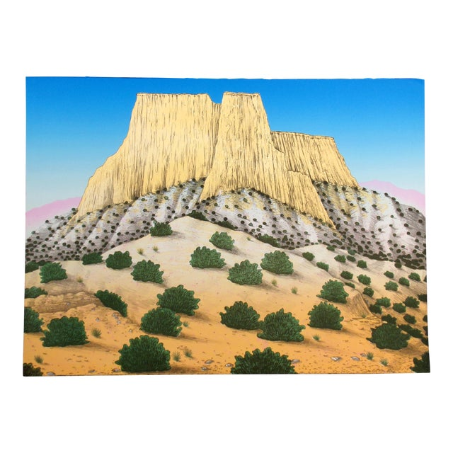 """David Bradley """"Enchanted Mesa"""" Signed Limited Edition Lithograph Unframed For Sale"""