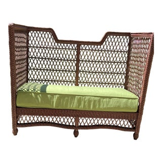 Mimi & Brooke Wicker Settee For Sale