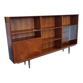 Danish Mid Century Modern Bookcase Sideboard For Sale
