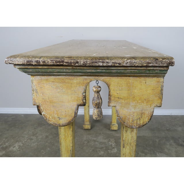 Paint Painted Italian Console W/ Tassels For Sale - Image 7 of 11