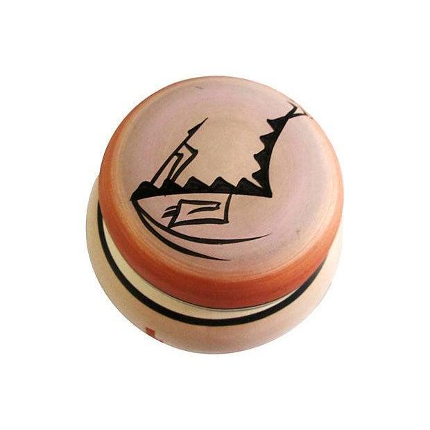 Navajo Pottery Desert Range Jar For Sale - Image 4 of 6