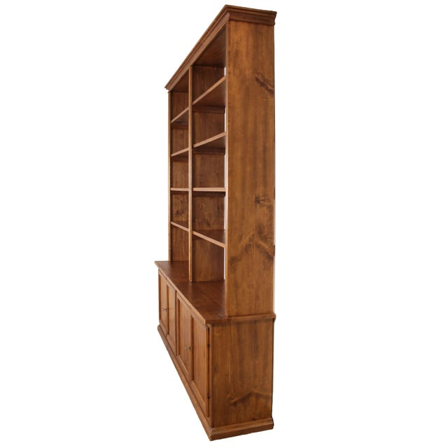 Traditional 20th C. Large Italian Open Bookcase For Sale - Image 3 of 13