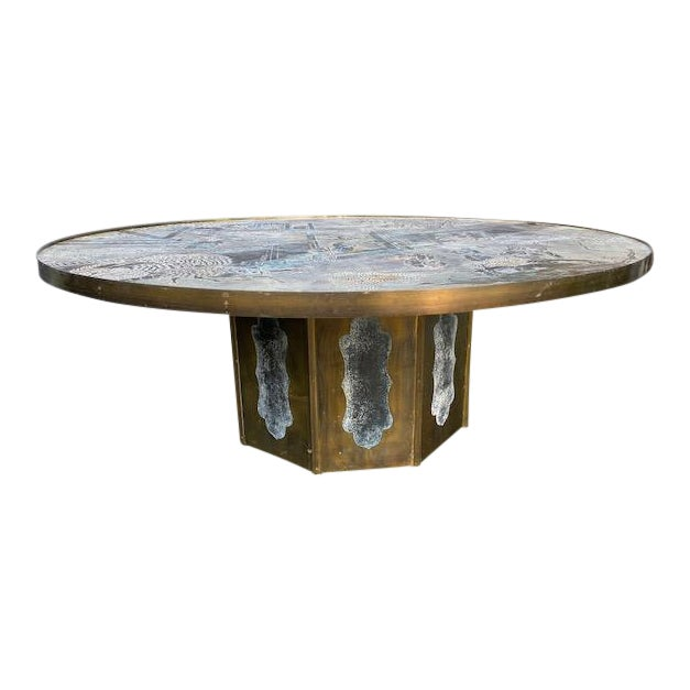 "1960"" Chinoiserie Phillip and Kelvin Laverne Chan Coffee Table For Sale"