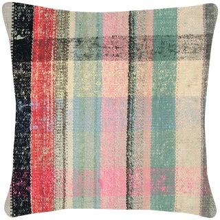 """Nalbandian - Turkish Rag Rug Pillow, 18"""" X 18"""" For Sale"""