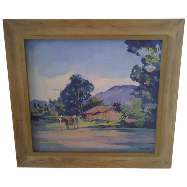 """Mexican Farm"" by Hans Paro For Sale"