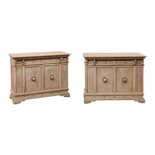 Italian-Style Early 20th Century Cabinets by Henry Fuldner and Sons - a Pair For Sale