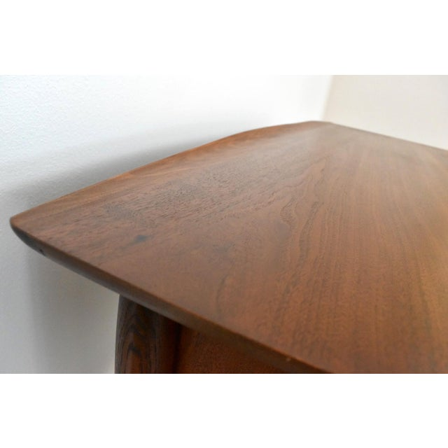 Mid-Century Bassett Artisan Walnut Pedestal Desk For Sale - Image 10 of 10
