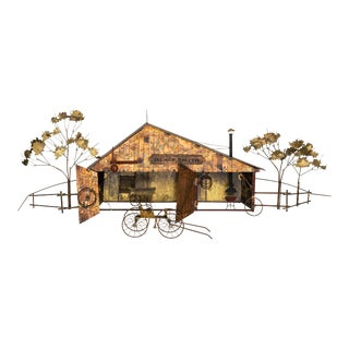 """Wall Sculpture """"Blacksmith Shop"""" by Curtis Jere For Sale"""