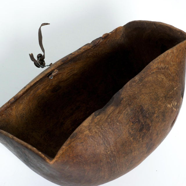 Antique African Tribal Art Hand-Carved Wood Bowl For Sale - Image 10 of 11