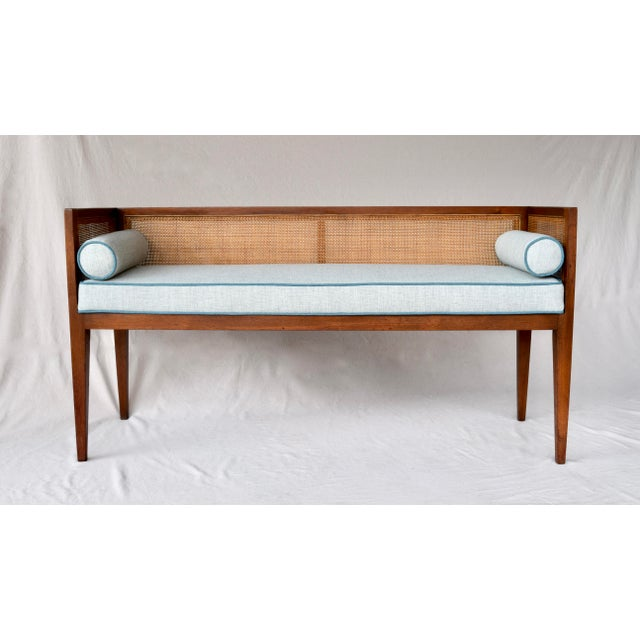 1950s Walnut Window Bench Attributed to Edward Wormley for Dunbar For Sale - Image 13 of 13