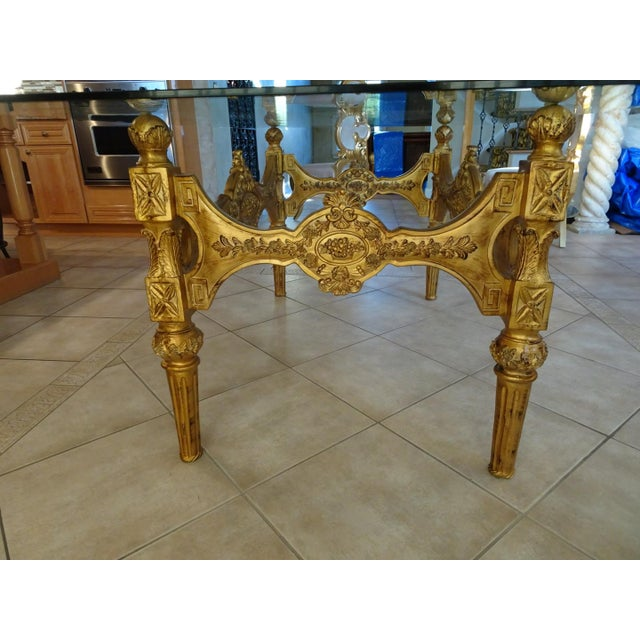 Baroque Ivory & Gold Italian Baroque Dining Set For Sale - Image 3 of 8