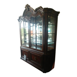 Thomasville Furniture Hills of Tuscany San Martino Dark Rustico China Cabinet For Sale