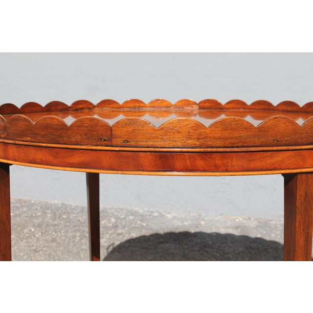"Mid-Century Modern Signed Baker ""Collectors Edition"" Exotic Burl Amboyna Tea Table For Sale In Miami - Image 6 of 13"