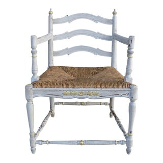 Boho Chic French-Style Gilded Detailed Arm Chair