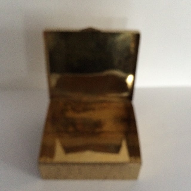 Honeycomb Pattern Brass Box - Image 5 of 6