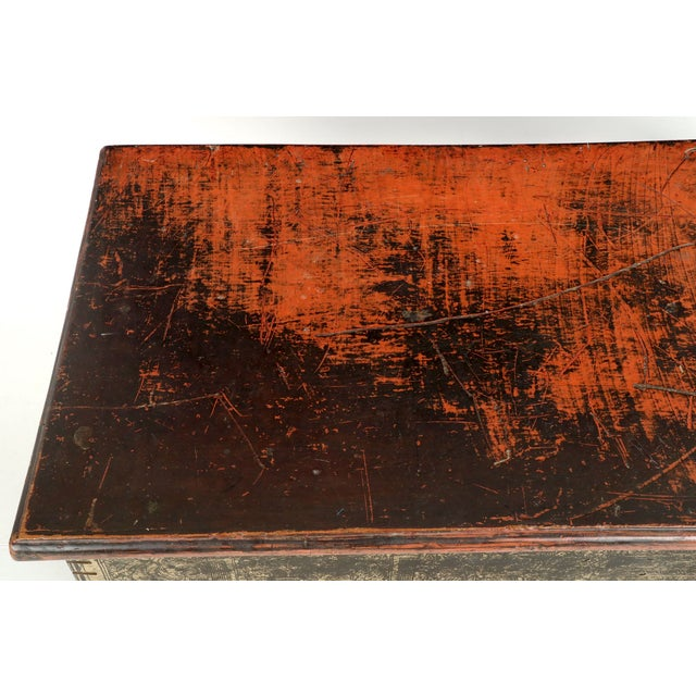 Antique Chinese Red and Gold Blanket Chest, 19th C - Image 3 of 10