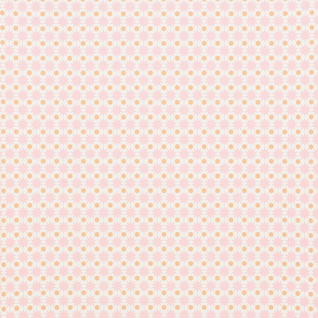 Contemporary Schumacher Cosmos Wallpaper in Pink For Sale - Image 3 of 4