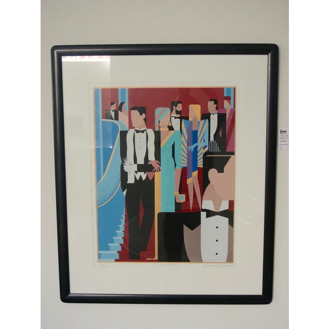 This stylish lithograph was created in the 1980s by Giancarlo Impiglia in the 1980s and it definitely captures the Art...