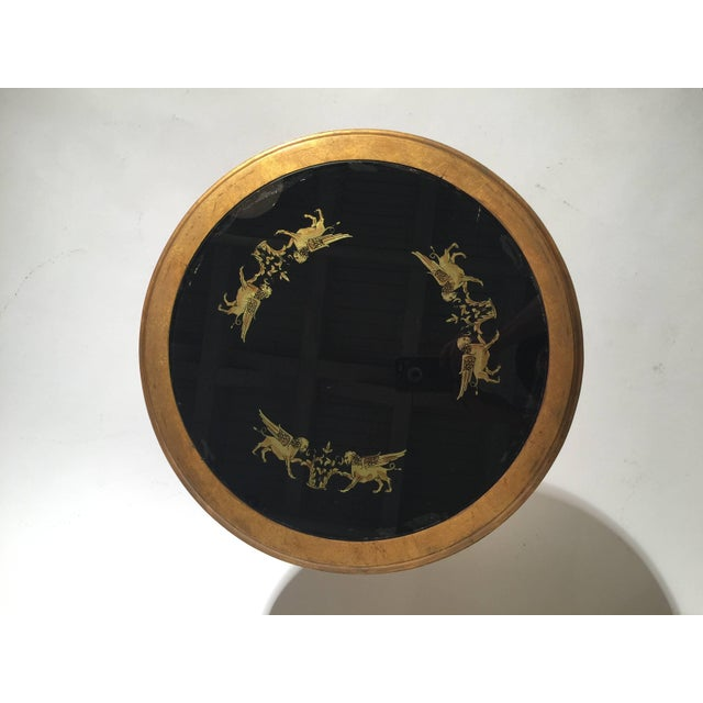 Gold 1960s Mid-Century Modern Reverse Painted Round Giltwood Nesting Tables - a Pair For Sale - Image 8 of 12