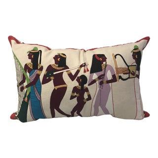 Vintage Egyptian Appliqué Textile Custom Pillow For Sale