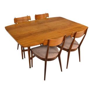 Drexel Declaration Drop Leaf Dining Set in Walnut - Set of 5