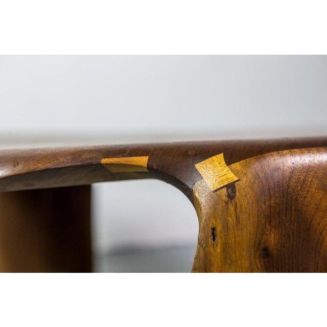 James Camp One of a Kind James Monroe Camp Studio Coffee Table in Walnut Usa 1975 For Sale - Image 4 of 9