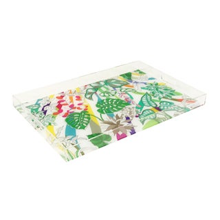 """Nicolette Mayer Sabi Jungle Natural 22.5""""x 14.5"""" Acrylic Tray For Sale"""