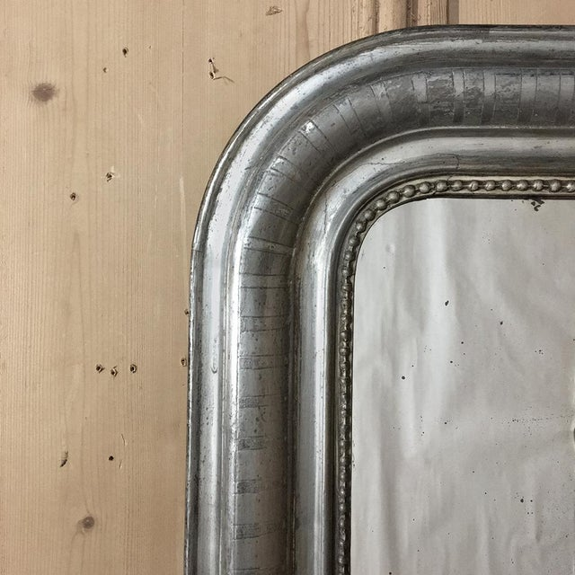 19th Century Silvered Louis Philippe Mirror For Sale In Baton Rouge - Image 6 of 11